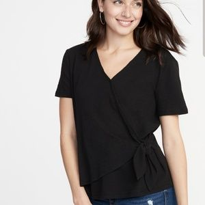 Old Navy Textured wrap top-XL tall